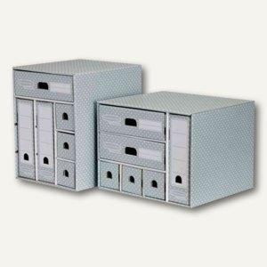 BANKERS BOX STYLE Schreibtisch-Organizer A4, 38.3x33.9x28.9cm, grün/weiß, 448180