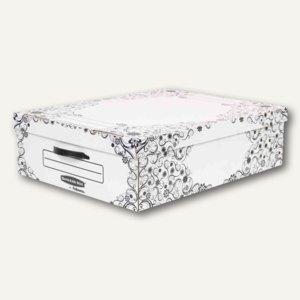 BANKERS BOX STYLE Unterbett-Box Premium, 51.8x69.3x19.5cm, Karton, schwarz, 2St.