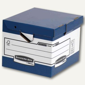 Bankers BOX SYSTEM Archivbox Kubus, DIN A4, 37.7x39.5x31cm, blau, 0048801