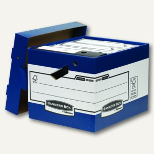 Fellowes Archiv-/Transportbox Heavy Duty, 342x400x291cm, blau, 10 Stück, 0038801