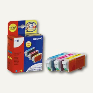 Pelikan Tintenpatronen für Canon Pixma, Multipack cmy, 4106650