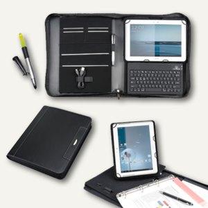 Alassio Tablet PC Mappe LOMBARDO für iPad, DIN A4, Mikrofaser, schwarz, 30108