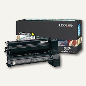 Lexmark Rückgabe-Lasertoner für C780, ca. 10.000 Seiten, gelb, C780H1YG