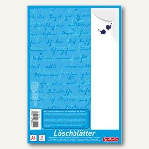 Herlitz Löschpapierblock, DIN A4, 80 g/qm, weiß, 10 Blatt, 382408