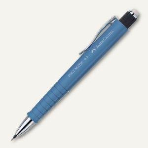 Faber-Castell Druckbleistift POLY MATIC - Minenstärke: 0.7 mm, graublau, 133368