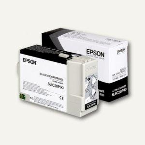 Tintenpatrone SJIC20P(K) für TM-C3400BK, 78.7 ml, schwarz, 10St., C33S020490