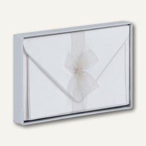 Handgeränderte Karten inkl. Umschläge, 85x128mm, grau, 40 Stück, 18282061157