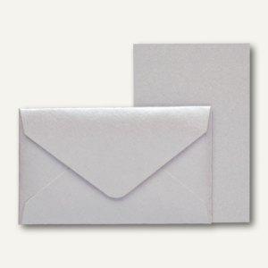 Rössler KLEINE FEINE Karten + Umschläge, 53 x 85 mm, silber, 40 St., 18298095080