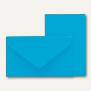 Rössler KLEINE FEINE Karten + Umschläge, 53 x 85 mm, pacific, 40 St.,18298095048