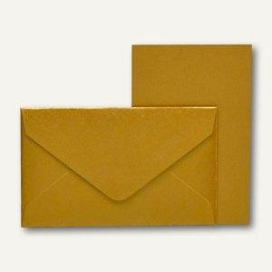 Rössler KLEINE FEINE Karten + Umschläge, 53 x 85 mm, gold, 40 St., 18298095075