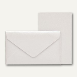 KLEINE FEINE Karten + Umschläge, 53 x 85 mm, milk metallic, 32 St., 18298095410