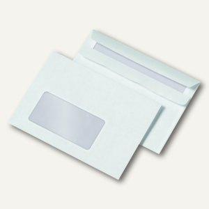 Fensterbriefumschlag C6, selbstklebend, 72 g/m², Fenster, weiß, 1.000 St.