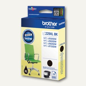 Brother Tintenpatronen LC-22EBK, ca. 2.400 Seiten, schwarz, LC22EBK