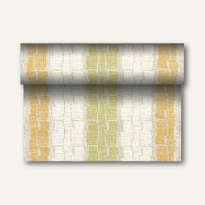 """Tischläufer """"Steam"""" auf Rolle, PV-Tissue, 24m x 40cm, olivgrün, 4 Stück, 84989"""