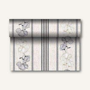 """Tischläufer """"Tessa"""" auf Rolle, PV-Tissue, 24m x 40cm, schwarz, 4 Stück, 84991"""