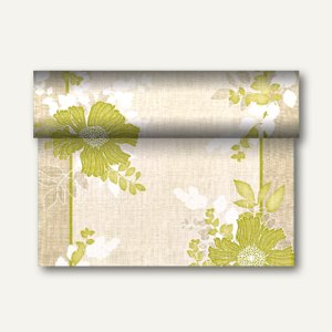 """Tischläufer """"Annabel"""" auf Rolle, PV-Tissue, 24m x 40cm, grün, 4 Stück, 84981"""