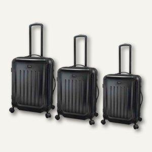 JSA Reisetrolley-Set, 3 verschiedene Größen, schwarz matt, 3er-Set, 45560
