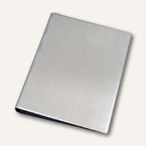 officio Notizbuch mit 6-Ringmechanik, Ø 14 mm, DIN A5, Aluminium, silber, 40111