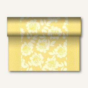 """Tischläufer """"Adele"""" auf Rolle, PV-Tissue, 24m x 40cm, gelb, 4 Stück, 84979"""