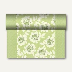 """Tischläufer """"Adele"""" auf Rolle, PV-Tissue, 24m x 40cm, grün, 4 Stück, 84980"""