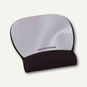 3M Handgelenkauflage Mousepad, Gel gefüllt, 22 x 23 cm, silber schwarz, MW311MX