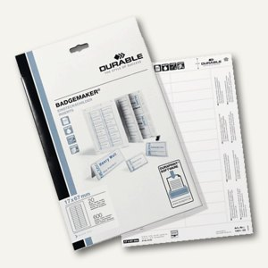 Durable Einsteckschilder Badgemaker, 148 x 105 mm, 80 Stück, 142002