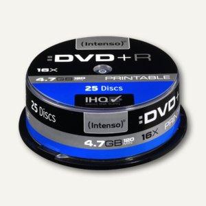 Intenso DVD+R Rohlinge, 4.7 GB, 16x Speed, bedruckbar, 25er Spindel, 4811154