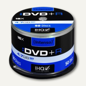 Intenso DVD+R Rohlinge, 4.7 GB, 16x Speed, 50er Spindel, 4111155