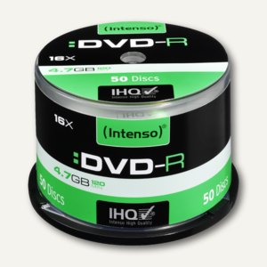 Intenso DVD-R Rohlinge, 4.7 GB, 16x Speed, 50er Spindel, 4101155