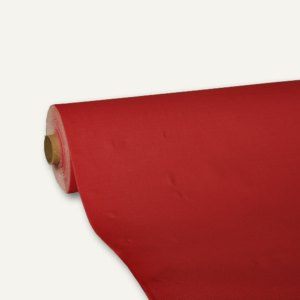 "Papstar Tischdecke ""ROYAL Collection"", Tissue, 25m x 118cm, rot, 4 Stück, 81904"