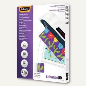 Fellowes Laminierfolientasche, DIN A4, vorgestanzt, 228 x 303 mm, 100St.,5452502