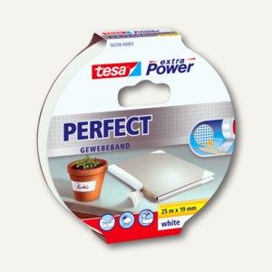 "Tesa Gewebeband extra Power ""PERFECT"", 19 mm x 25 m, weiß, 56339-00003-01"