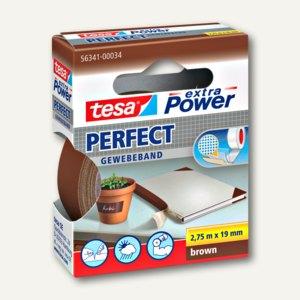 "Tesa Gewebeband ""extra Power PERFECT"", 19 mm x 2.75 m, braun, 56341-00034-03"