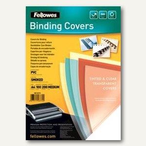 Fellowes Deckblatt, DIN A4, PVC, 0.20 mm, rauch-transparent, 100 Stück, 5377401