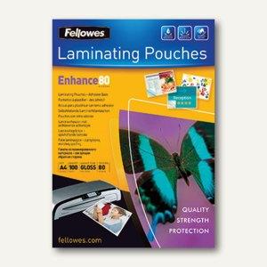 Fellowes Laminierfolientasche, DIN A4, glänzend, 80 mic, 100St., 5302202