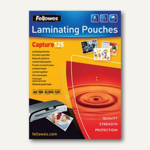 Fellowes Laminierfolientasche, DIN A5, glänzend, 125 mic, 100St., 5307302