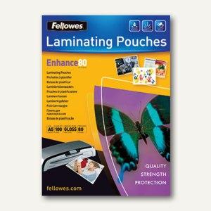 Fellowes Laminierfolientasche, DIN A5, glänzend, 80 mic, 100St., 5306002
