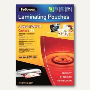 Fellowes Laminierfolientasche Super Quick, DIN A4, 125 mic, 100 Stück, 5440101