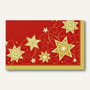 """Papstar Mitteldecke """"Just Stars rot"""", stoffähnlich, 80 x 80 cm, 100 St., 82580"""