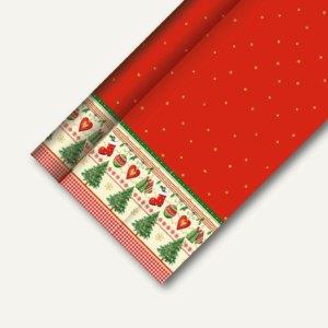 """Papstar Tischdecke """"Trad. Christmas"""", stoffähnlich, 1.18 x 25 m, 4er-Pack, 82585"""
