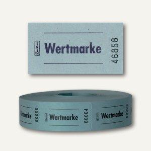 Zweckform Wertmarken auf Rolle, neutral, nummeriert, blau, 2.000 Stück, 2313-3