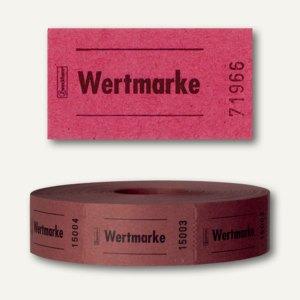 Zweckform Wertmarken auf Rolle, neutral, nummeriert, rot, 2.000 Stück, 2310