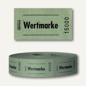 Zweckform Wertmarken auf Rolle, neutral, nummeriert, grün, 2.000 Stück, 2311