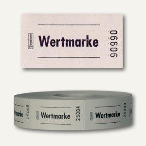 Zweckform Wertmarken auf Rolle, neutral, nummeriert, weiß, 2.000 Stück, 2314-2