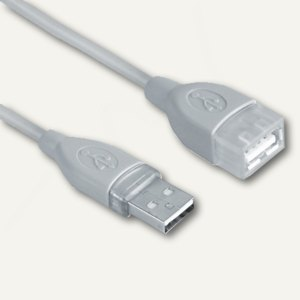 Hama USB Verlängerungskabel 2.0, (L)5 m, A-Stecker - A-Kupplung, grau, 78400