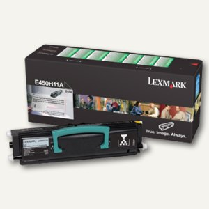 Lexmark Rückgabe-Tonerkassette E450, ca. 11.000 Seiten, schwarz, E450H11E