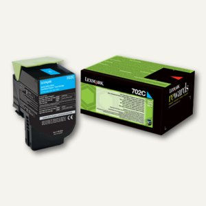 Lexmark Rückgabe-Tonerkassette 702C, ca. 1.000 Seiten, cyan, 70C20C0