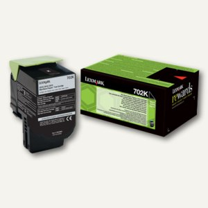 Lexmark Rückgabe-Tonerkassette 702K, ca. 1.000 Seiten, schwarz, 70C20K0