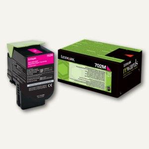 Lexmark Rückgabe-Tonerkassette 702M, ca. 1.000 Seiten, magenta, 70C20M0