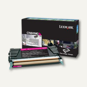 Lexmark Rückgabe-Tonerkassette C748, ca. 10.000 Seiten, magenta, C748H1MG